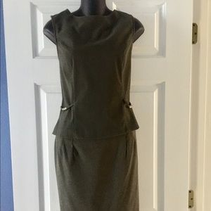 2 Piece Sleeveless Skirt Suit Office Dress